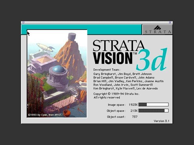 StrataVision 3 about