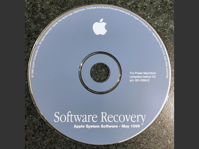 Software recovery. Apple System Software - 1999.05. Disc 1 & 2. For Power Macintosh... (1999)