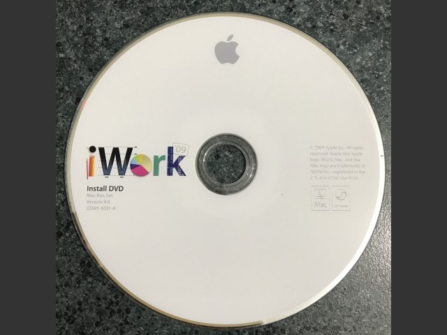 "691-6331-A,2Z,iWork 09 v9.0 Install ""Mac Box Set"" (DVD) (2009)"