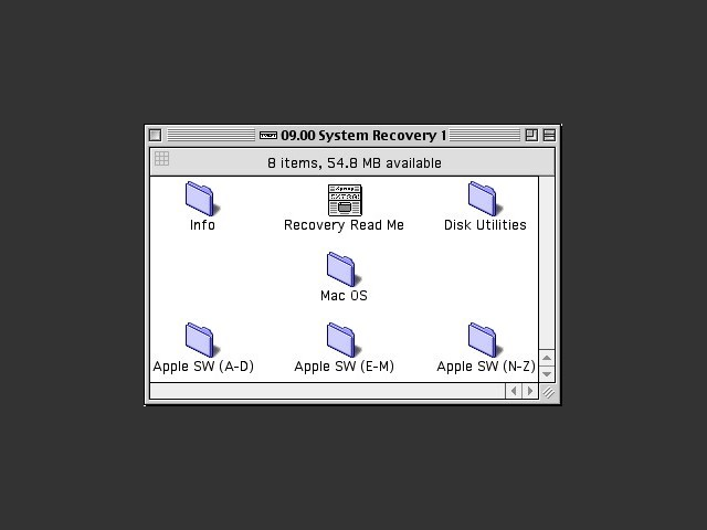 System Software Recovery. For Power Macintosh computers before G3. 2000 September (CD 1 of 2) (2000)