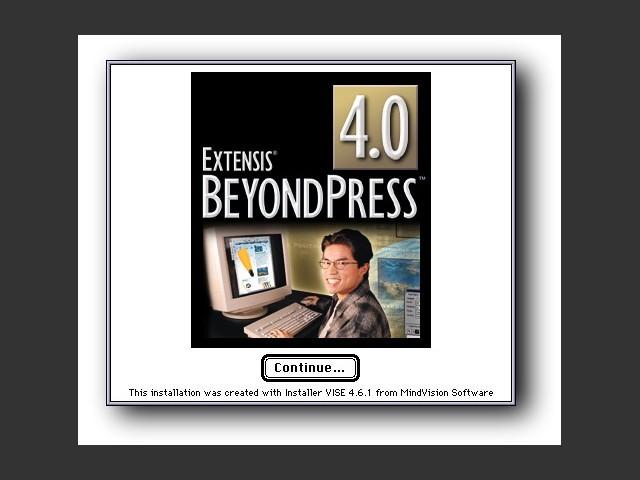 BeyondPress 4.0 installer splash