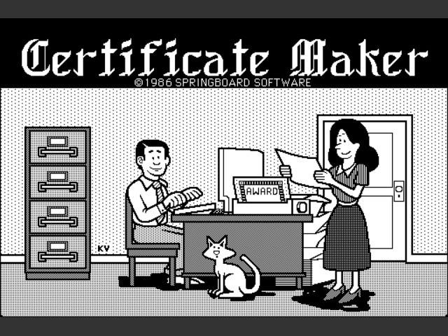 Certificate Maker (1988)