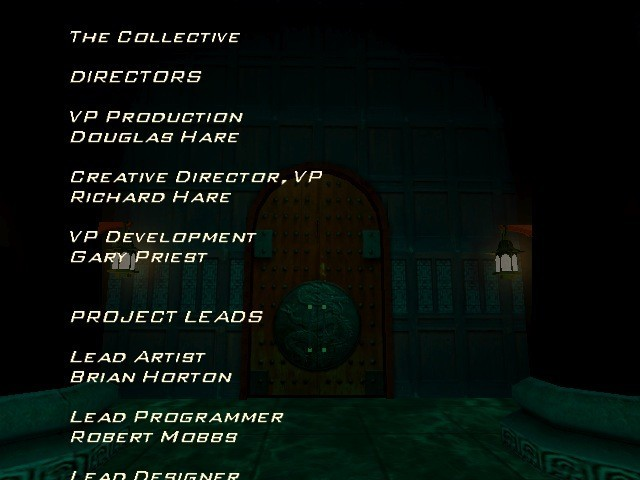 Credits screen