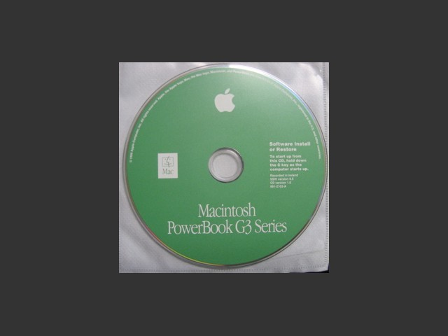 Mac OS PowerBook G3 Series Install/Restore CD (1999)