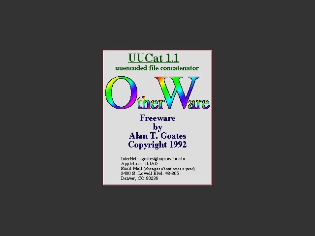 UUCat 1.1 (1992)