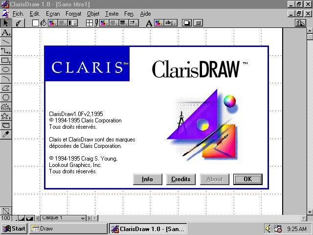 ClarisDraw 1.0v2 for Win (French) (1995)