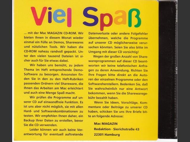 Mac Magazin CD 21 (July 1996, German) (1996)