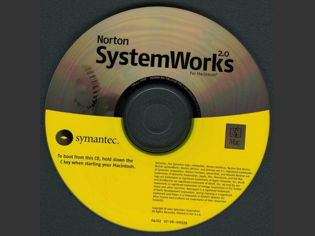 Norton SystemWorks v1.0.3 & v2.0 (2002)