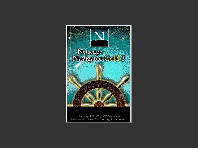 Netscape 3.0.1 gold edition splash screen