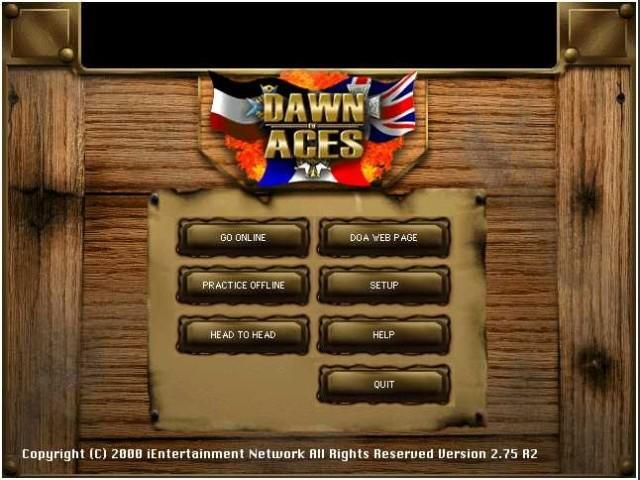 Dawn of Aces - Menue