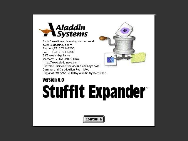 Stuffit Expander (+ DropStuff + DropZip) 6.0 (2000)