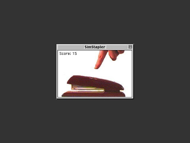 The whole SimStapler app is shown here