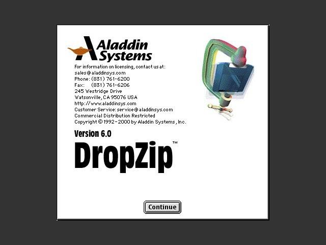 DropZip 6.0 installer splash screen