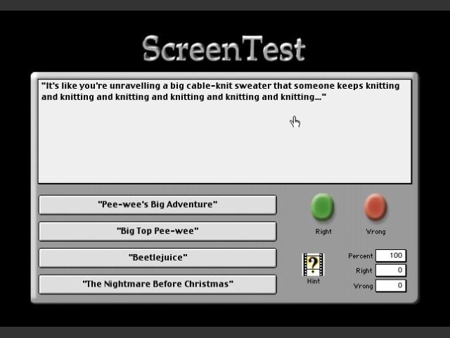 ScreenTest - The Movie Trivia Game (2001)