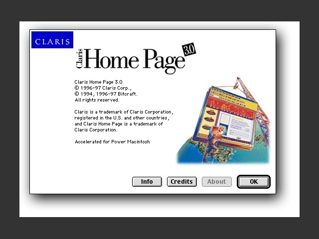 About Claris Home Page 3.0 Splash Screen