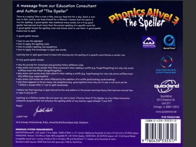 Phonics Alive! 3: The Speller (1999)