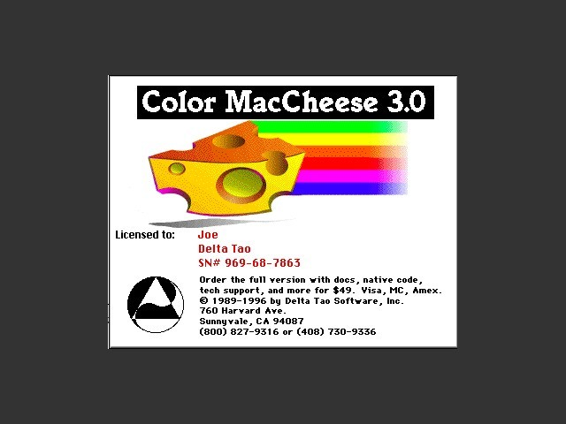 Color MacCheese (1990)