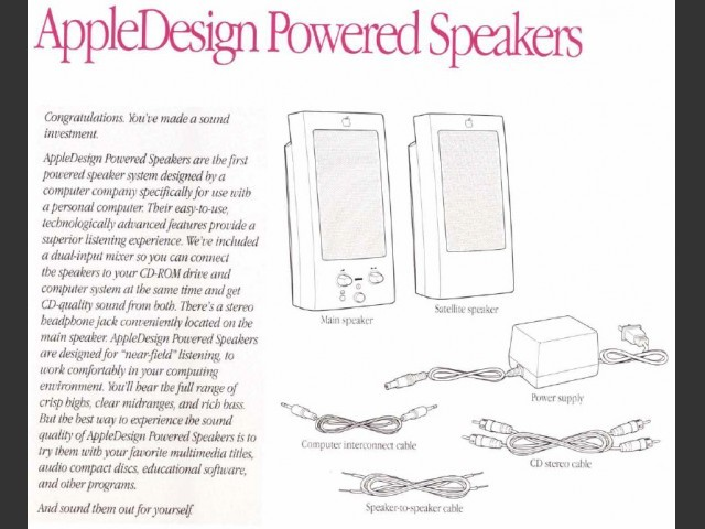 AppleDesign Powered Speakers (Manual) (1993)