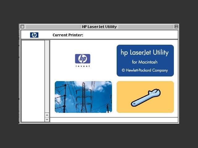 HP LaserJet Utility Splash Screen