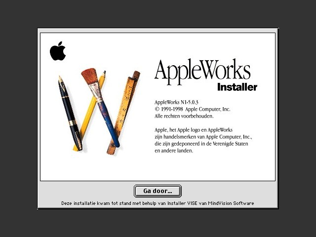 AppleWorks 5.x (Dutch) (1998)