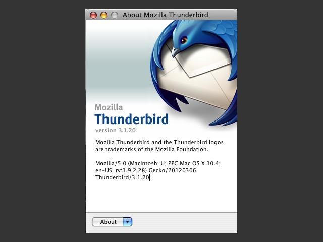 Thunderbird 3.1.2.0 - PowerPC (2009)