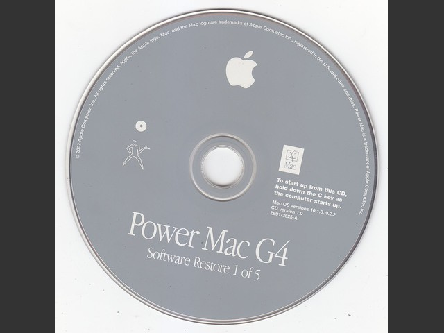 Mac OS Power Mac G4 (Quicksilver 2002) complete restore disc set (2002)