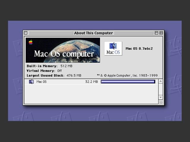 Mac OS 8.7 Pre-release (Sarah) (1999)