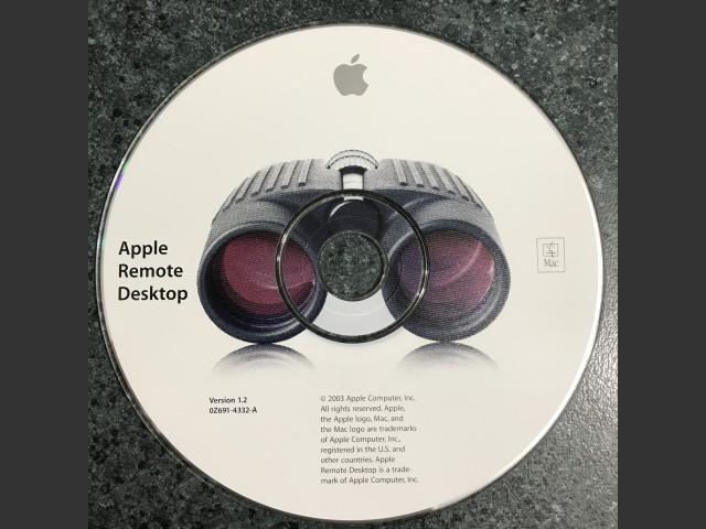 691-4332-A,0Z,Apple Remote Desktop v1.2 2003 (CD) (2003)