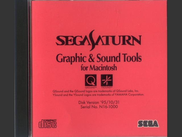 Sega Saturn Graphics & Sound Tools for Macintosh (1995)