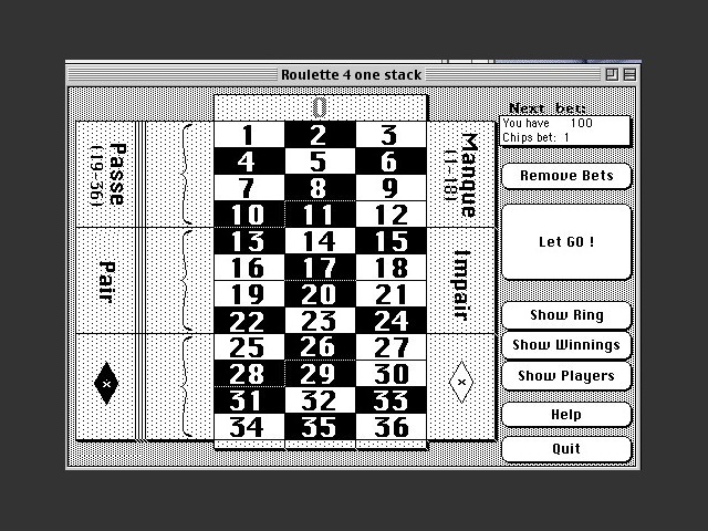 Roulette - A HyperCard Game (1991)