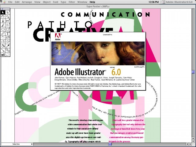 Adobe Illustrator 6 for PPC (1995)