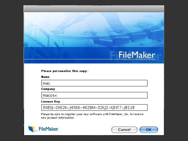 FileMaker Pro 7 - Macintosh Repository