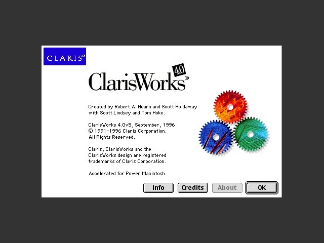 ClarisWorks 4.0/HomePage 2.0 Internet Edition CD (1995)