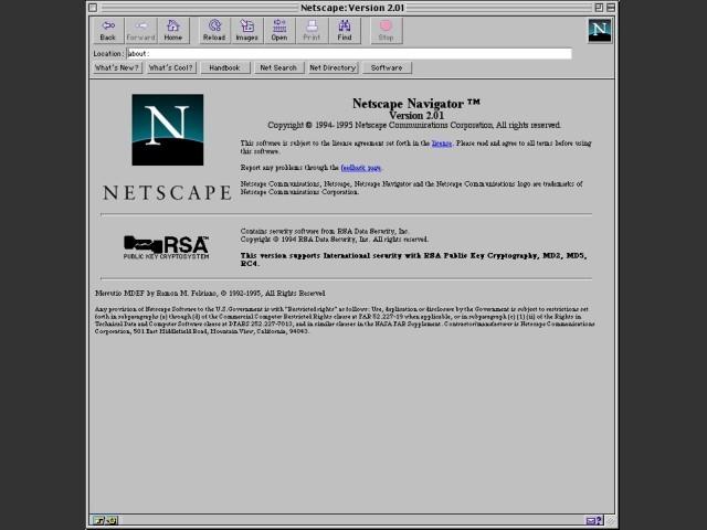 Netscape 2.x (1996)