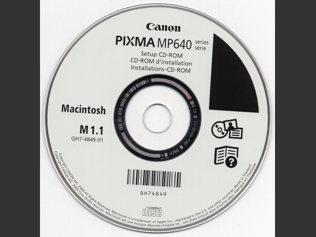 Canon PIXMA MP640 drivers CD-ROM - Macintosh Repository