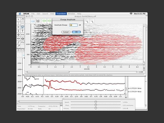 SPEAR Sinusoidal Partial Editing Analysis and Resynthesis editor Mac Universal Binary (0)