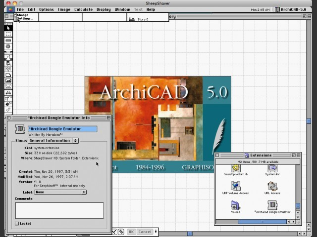 ArchiCAD 5.0 (1996)