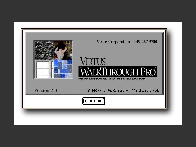 Virtus WalkThrough Pro 2.0 Installer splash screen