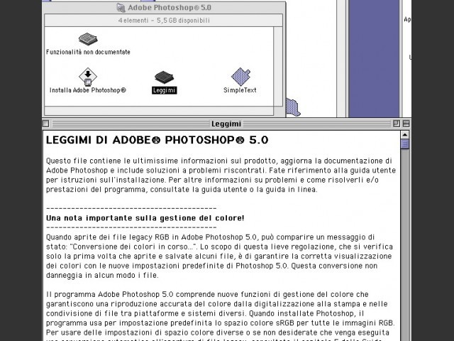 Adobe Photoshop 5.0 (1998)