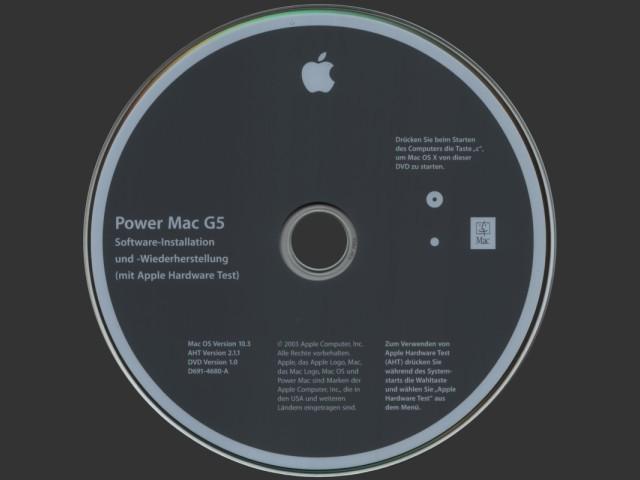 Power Mac G5 (original/2003) Software Install and Restore (Mac OS X 10.3 Panther) German (Deutsch) (0)