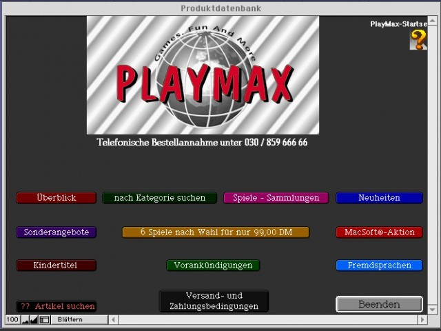 Mac Giro Light (German) PlayMax CD (1998)