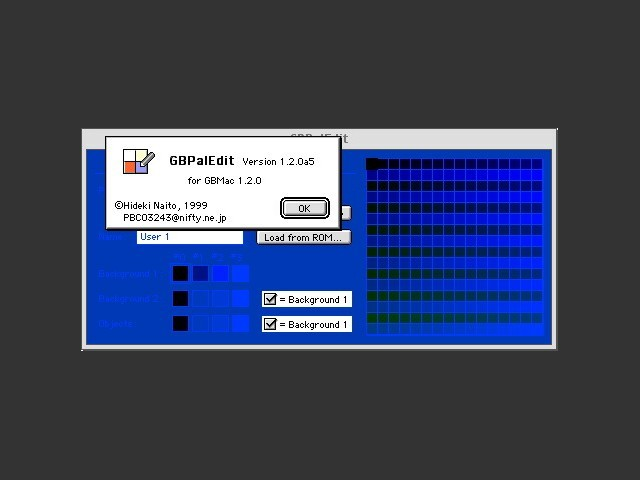 GBMac's palette editor
