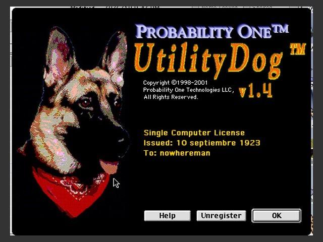 UtilityDog v1.4 (2001)