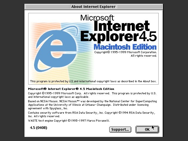 Internet Explorer 4.5 Macintosh Edition (1999)