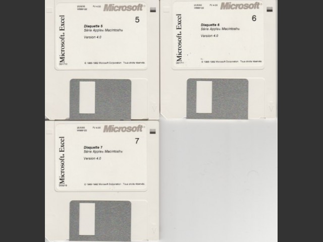 Microsoft Excel 4.0 (French) (1993)