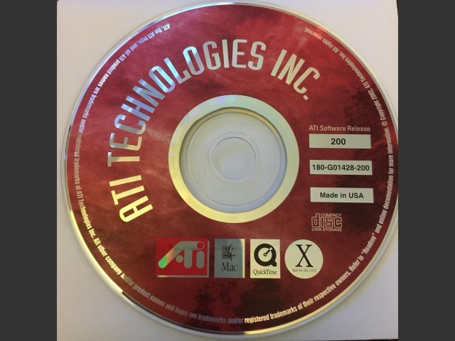 ATI RADEON 9000 Pro CD-ROM Mac Edition Release 200 (2002)