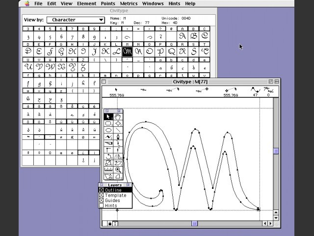 Macromedia Fontographer 4.1.5 (1996)