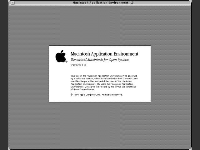 Macintosh Application Environment 1.0 (SPARC-Solaris) (1994)