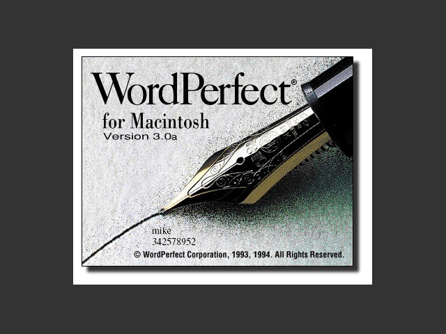 WordPerfect 3.0a (1994)
