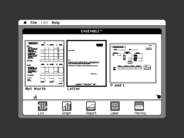 Ensemble (aka CX MacBase) (1984)